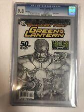Green Lantern (2010) # 50 (CGC 9.8 WP)  Rarer Sketch Variant Cover