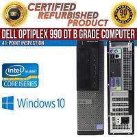 Dell OptiPlex 990 DT Intel i5 4 GB RAM 500 GB HDD Win 10 USB VGA B Grade Desktop