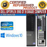 Dell OptiPlex 990 DT Intel i5 4 GB RAM 500 GB HDD Win 10 USB VGA B Grade Desktop