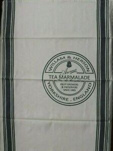 MORGAN & FINCH TeaTowel William & Herson tea Marmalade England NEW Tea Kitchen
