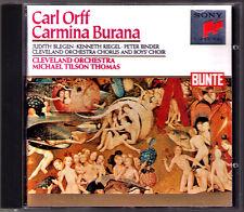 Michael Tilson THOMAS: ORFF Carmina Burana CD Judith Blegen Kenneth Riegel SONY