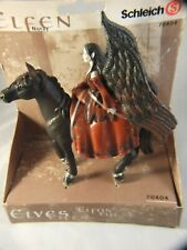 Schleich Elfen  Nuray Princes  of Darkness  on Horse  Action Toy German Boxed