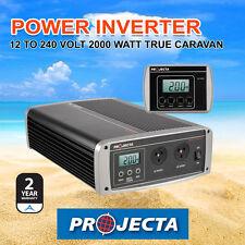 NEW PROJECTA IP2000  WATT 12 TO 240 VOLT TRUE CARAVAN PURE SINE WAVE INVERTER
