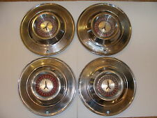 "1964 PLYMOUTH HUBCAPS OEM 14"" SET OF 4 B BODY FURY BELVEDERE SAVOY"