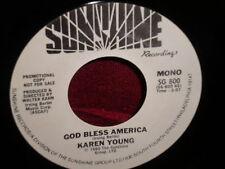 "Karen Young ""God Bless America"" 54 Single PROMO Mono/Stereo"