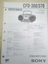 Sony Service Manual~CFD-360/370 CD Radio Cassette-Corder Boombox~Original~Repair