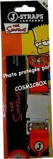 Sangle de téléphone portable les the SIMPSONS j-straps lanyards noir & rouge new