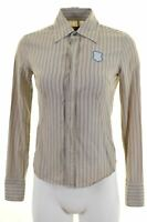 DIESEL Womens Shirt Size 10 Small Multi Striped Cotton  EN05