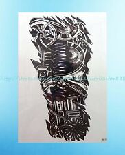 "Bio-mechanical tattoos black Totem 8.25""extra large temporary arm tattoo tribal"