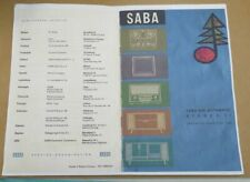 Copy of SABA 400 Automatic Stereo 11 Instructions For Use