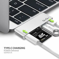 EgoIggo GN21B Type-C Hub Power Delivery USB 3.0 SD MacBook PRO Port SILVER
