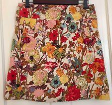 ELEVENSES Anthropologie Floral Print Pattern Lined Skirt Pockets Womens Sze 2, S