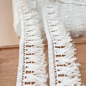 1M Cotton Tassel Crochet Trim Fringe Fabric Garment Table cloth Dress Sewing