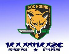 PEGATINA STICKER AUTOCOLLANT ADESIVI AUFKLEBER DECAL FOX HOUND  METAL GEAR