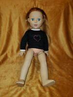 "Madame Alexander 18"" Doll Dark Blonde Teal Blue Eyes"
