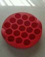 Moule silicone tupperware à  mini bouchées couleur rouge