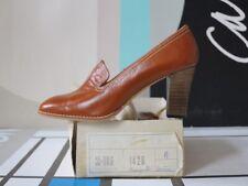ENCI Damen Schuhe Pumps braun cognac 90er TRUE VINTAGE 90s women high heels NOS