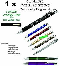 Personalised Custom Metal Pen Engraved. Wedding Bomboniere, Favours and Gifts
