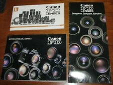 Canon Fd Camera Lenses Instruction Book / Manual Lot