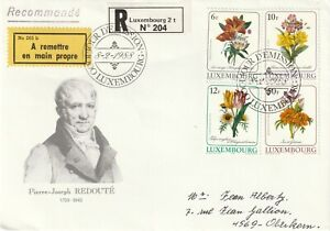 1988 Luxembourg FDC cover Flowers - Pierre-Joseph Redoute