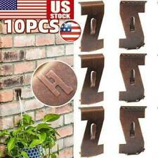 10X Heavy Duty Brick Hooks Hanger Clips Standard Metal Wall Clip Decor US
