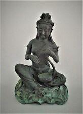 Antique Thai Bronze Statue Large 19th Century Female Figure