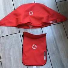 BUGABOO CAMELEON 3 TAILORED CANVAS FABRIC SET HOOD AND APRON RED
