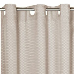 """EZ-ON® """"Grace"""" Jacquard Polyester Standard Size Shower Curtain in Grey"""