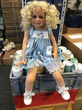 Monika Levenig Vinyl Puppe 72 cm. Top Zustand