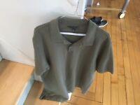 Banana Republic Mens Polo Shirt XL Short Sleeve Olive Color