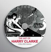 HARRY CLARKE Classic Book Illustration Art Deco Art Print Andersen Fairy Tale CD