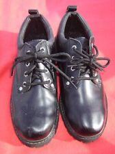 SKECHERS Mens size 9 1/2M Black Leather Loafer Dress Shoes