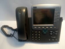 - 4x Cisco 7970 Unified IP Voip LCD Business Phone CP-7970G w/ Handset & Stand