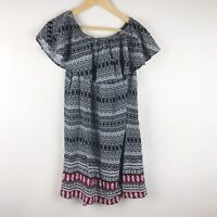 NWT Beach Lunch Lounge Dress Small Womens Shift Black Red Evi Off-the-Shoulder