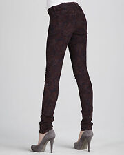 NWT JOE'S WOMEN Sz29 THE SKINNY CORD MIDRISE STRETCH JEANS PORT PAISLEY PRINT