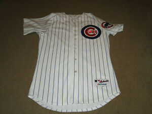 CHICAGO CUBS # 17 MARK GRACE MLB THROWBACK JERSEY BY MAJESTIC SIZE 44 STITCHED