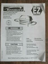 Kenmore Liquid Propan Gas Grill Care Manual & Assembly Instructions 415.162020