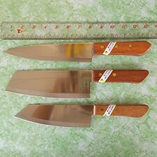 Chef Knife Cook Knives Set 3 pcs KIWI Wood Handle Kitchen Blade Stainless steel