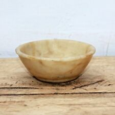 1940s Old Vintage Beautiful White Marble Stone Kitchen Bowl #39