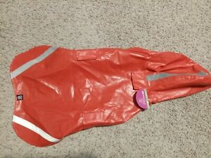 Petrageous Dog London Slicker Raincoat., Red, Extra-Large. NEW