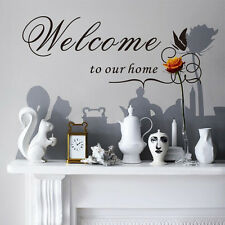 Personalized WELCOME TO OUR HOME RV Camper Trailer Camp Vinyl Decal Sticker Sign
