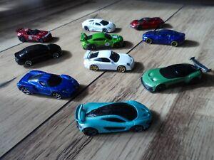 Toy Car Bundle/Lot Hotwheels x10 Sports-Super Cars Audi/Ferrari/Mclaren/Aston