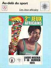 Record card iie africa games 1973 all-Africa Games lagos nigeria athletic 70s