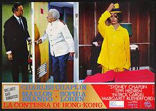 CINEMA-fotobusta LA CONTESSA DI HONG-KONG loren,CHAPLIN