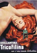 """TARGA VINTAGE """"1951 BRILLANTINA TRICOFILINA"""" Pubblicità,ADVERTISING,POSTER,PLATE"""