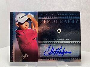 2021 UD Artifacts Golf Black Diamond Gemography Collin Morikawa Auto SN:1/1 PGA