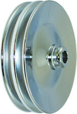 SB & BB Chevy Chrome Steel 2 Groove Belt Key Way Style Power Steering Pulley SBC
