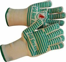 Pair of Smart Kitchen Gloves Heat Resistant Finger Guard Oven BBQ Cooking Mitts