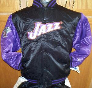 Classic Starter Satin NBA Team Jacket - UTAH JAZZ - Malone & Stockton