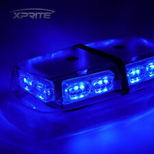 BLUE Xprite Emergency Magnetic Roof Top Flash Strobe Light 36 LED High Intensity